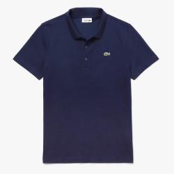 Polo Lacoste SPORT en coton mélangé uni Bleu Marine