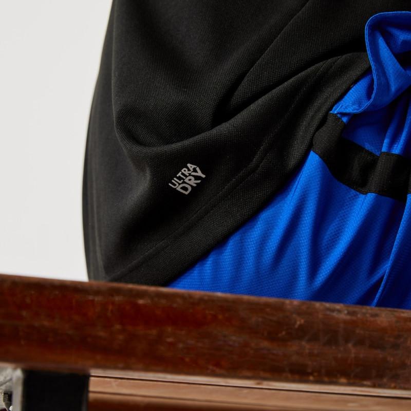 Polo Lacoste SPORT en piqué respirant bicolore avec marquage