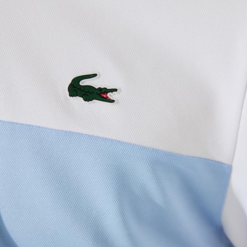 Polo Lacoste SPORT en piqué respirant color-block avec marquage