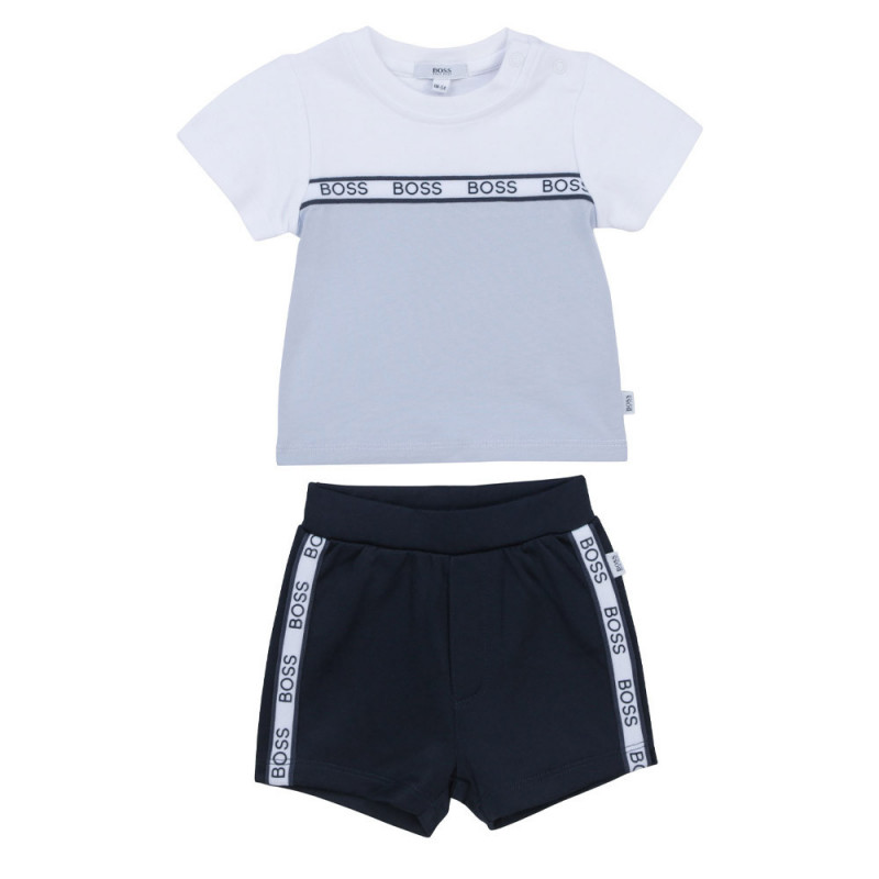 Ensemble t-shirt / short Boss enfant