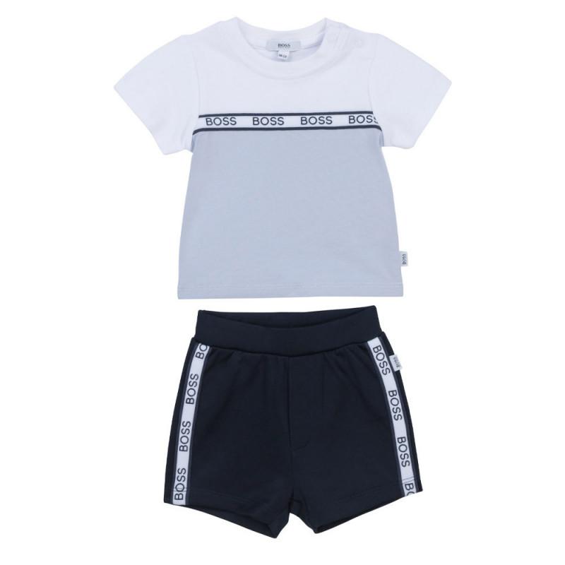 Ensemble t-shirt / short Boss enfant