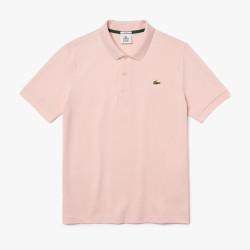 Polo unisexe Lacoste LIVE Rose Pale standard fit en piqué de coton stretch