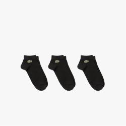 Lot de 3 paires de chaussettes basses Lacoste SPORT en coton uni