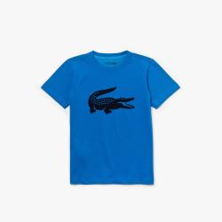 T-shirt Garçon Tennis Lacoste SPORT crocodile oversize Bleu