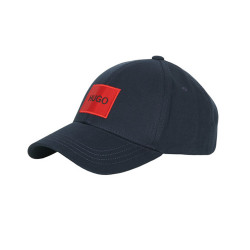 Casquette Hugo Boss en twill de coton avec étiquette logo rouge