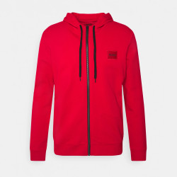 Sweat zippé Hugo Boss Daple212 en molleton de coton avec patch logo
