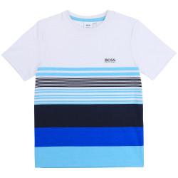 T-shirt à rayures Boss enfant