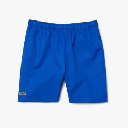 Short Lacoste Garçon Tennis SPORT uni Bleu