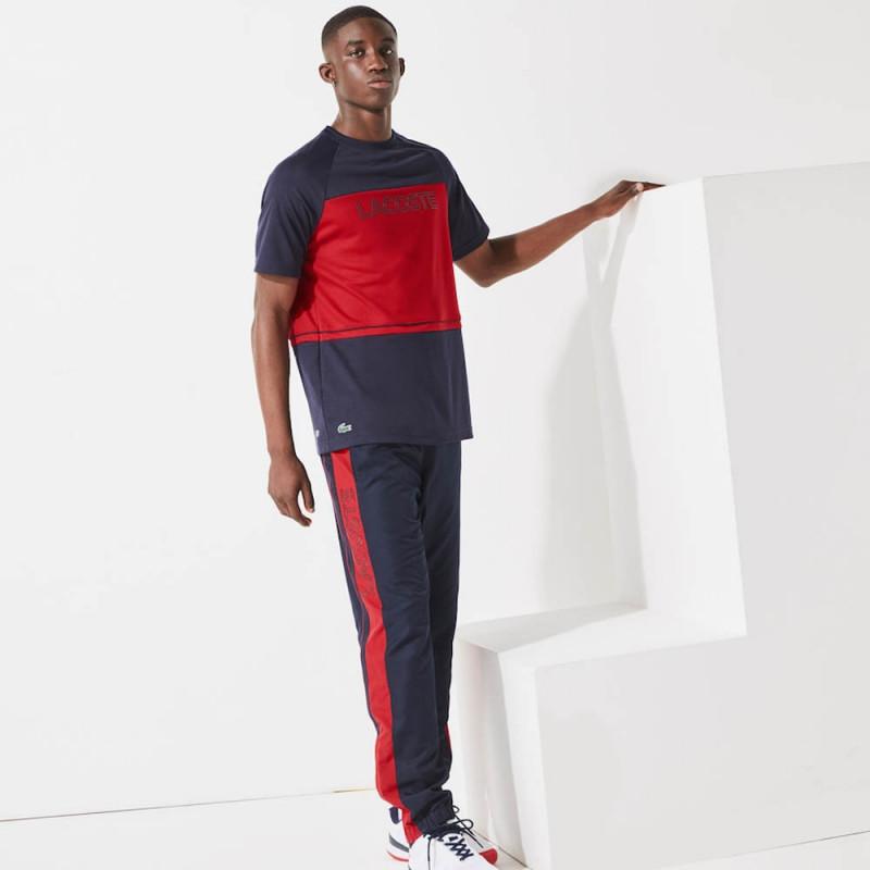 T-shirt à col rond Lacoste SPORT en piqué respirant color-block