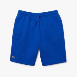 Short Tennis Lacoste SPORT en molleton uni Bleu
