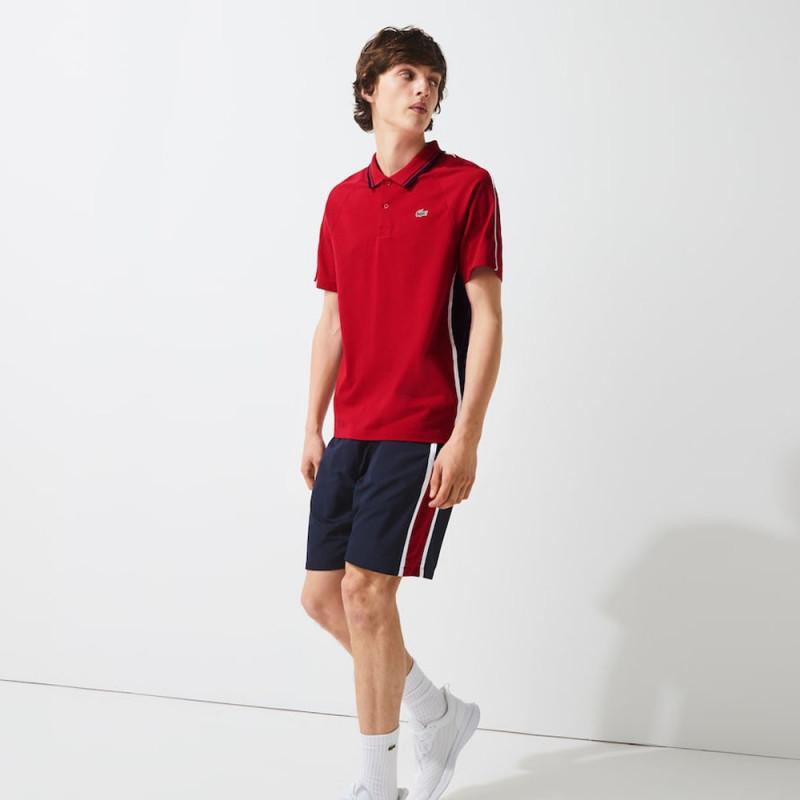Polo Tennis Lacoste SPORT bicolore en maille ultra légère