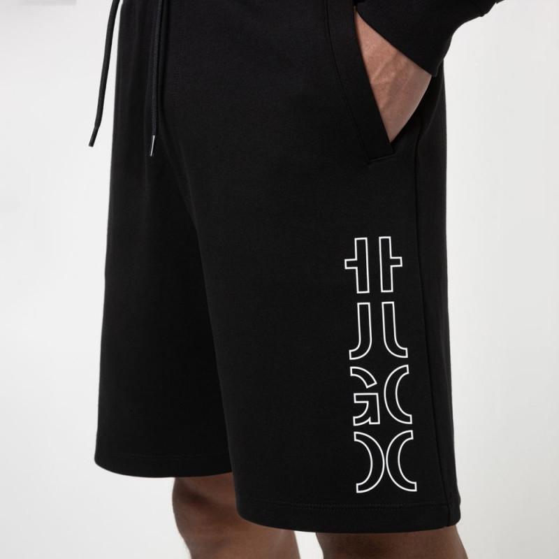 Short Hugo Boss Doolio en coton biologique à logo revisité Noir