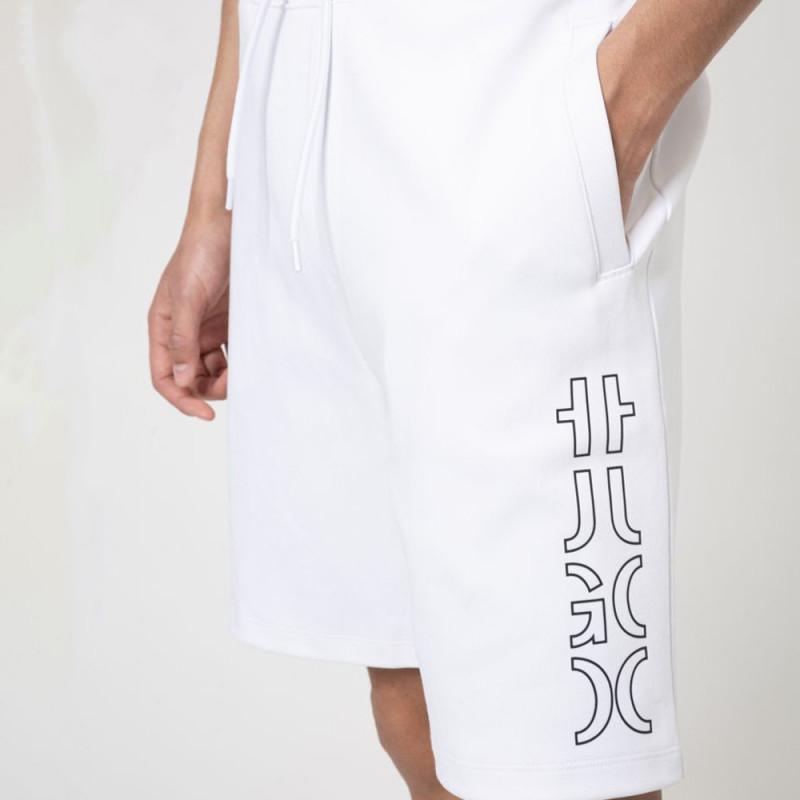 Short Hugo Boss Doolio en coton biologique à logo revisité Blanc