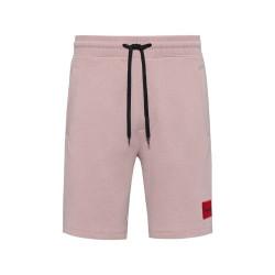 Short de survêtement Diz212 Relaxed Fit en coton rose clair