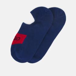 Lot de 2 paires de Socquettes Bleu HUGO LOW CUT LABEL