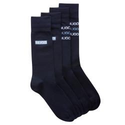 Lot de deux paires de chaussettes mi-mollet bleu foncé