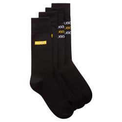 Lot de deux paires de chaussettes mi-mollet noir