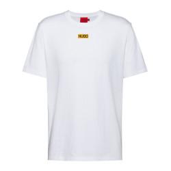 T-shirt HUGO Durned212 Regular Fit Blanc