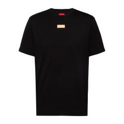 T-shirt HUGO Durned212 Regular Fit Noir