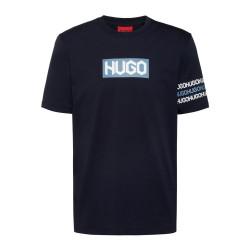 T-shirt HUGO DAKE en coton bleu foncé