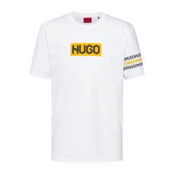 T-shirt HUGO DAKE en coton blanc
