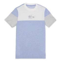 T-shirt Lacoste à col rond Bleu avec marquage imprimé poitrine