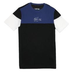 T-shirt Lacoste à col rond Bleu Marine avec marquage imprimé poitrine