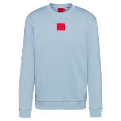 Sweat Hugo Boss Diragol212 Bleu en molleton de coton avec étiquette logo rouge