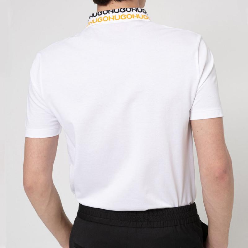 Polo HUGO Damago Blanc