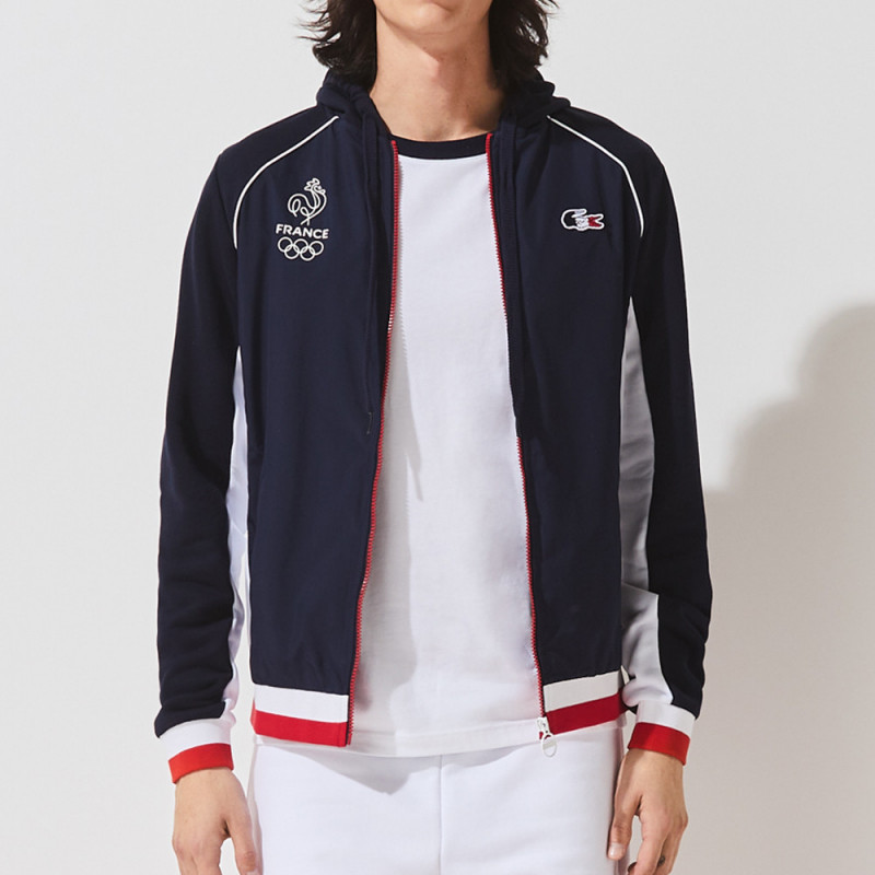 Veste zippée Lacoste SPORT en molleton Édition France Olympique
