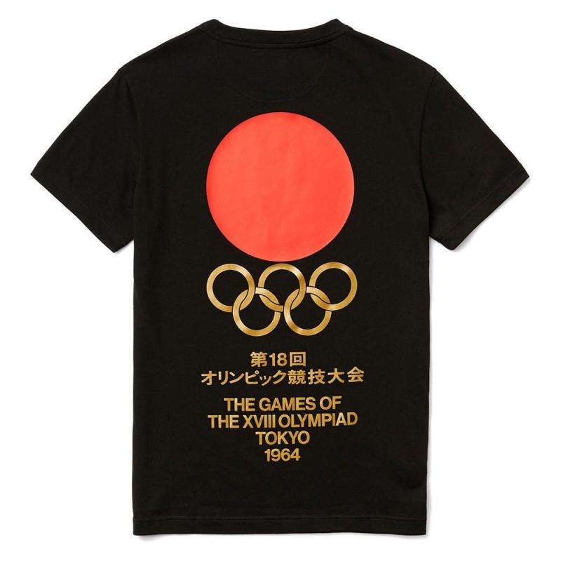 T-shirt Lacoste Edition Tokyo Olympique Noir