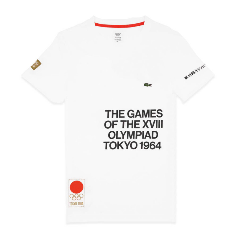T-shirt Lacoste Olympique Blanc