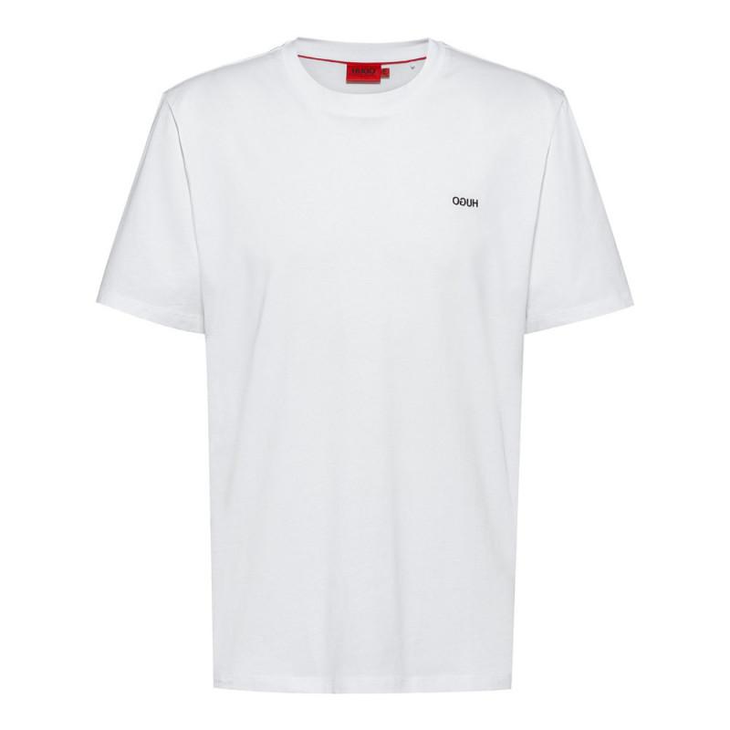 T-shirt Hugo Dero212 Blanc uni en coton