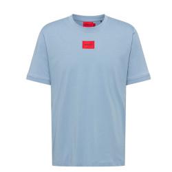 T-shirt Regular Hugo Boss Diragolino_D en coton avec étiquette logo rouge