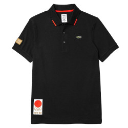 Polo Lacoste Heritage Noir