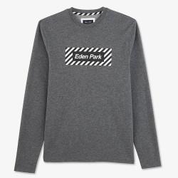 T-shirt gris Eden Park à...