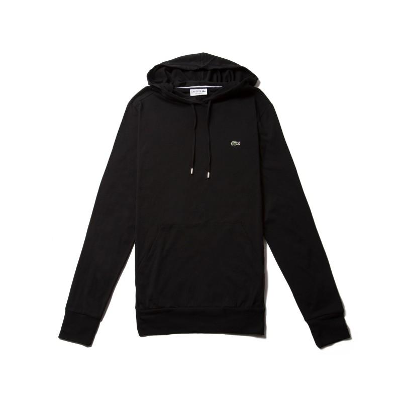 Sweatshirt à capuche Lacoste SPORT noir
