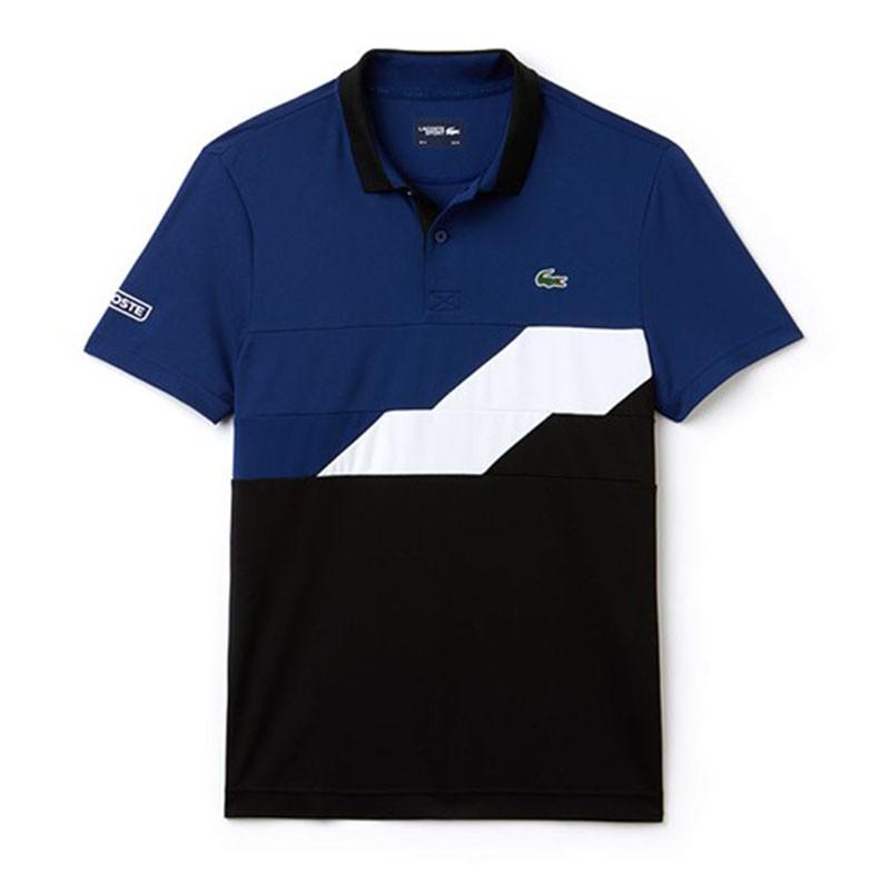 Polo Lacoste SPORT bleu et noir
