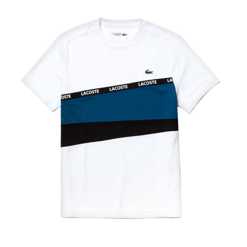 T-shirt Lacoste SPORT en piqué color-block avec bande signature 4WL