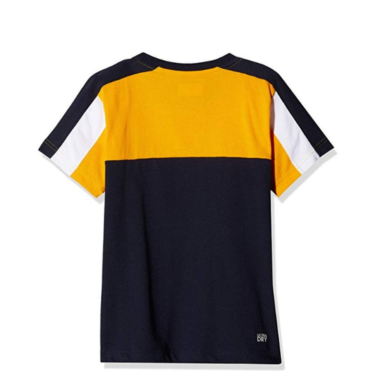 T-shirt Lacoste Orange et Bleu marine BP7