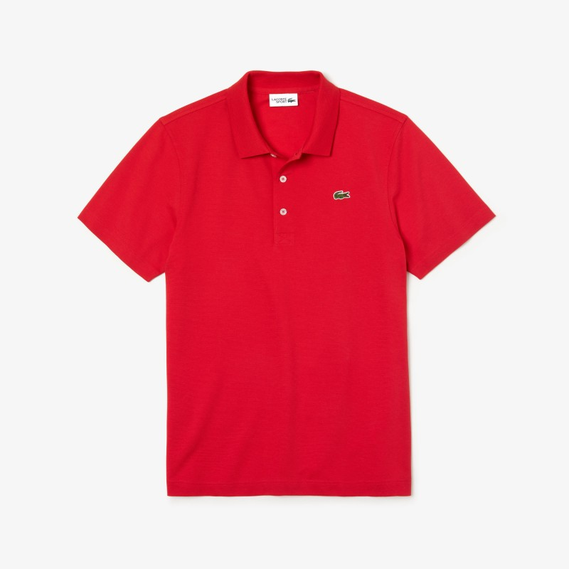 Polo regular fit Lacoste SPORT rouge en maille ultra-légère