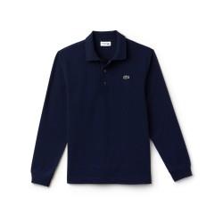 Polo à manches longues Lacoste SPORT bleu en coton ultra léger