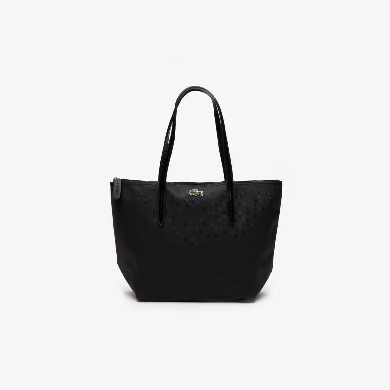 Petit sac cabas Lacoste noir zippé L.12.12 Concept uni