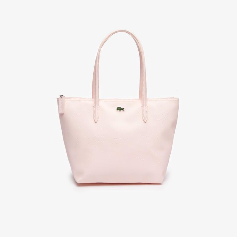 Petit sac cabas Lacoste rose zippé L.12.12 Concept uni
