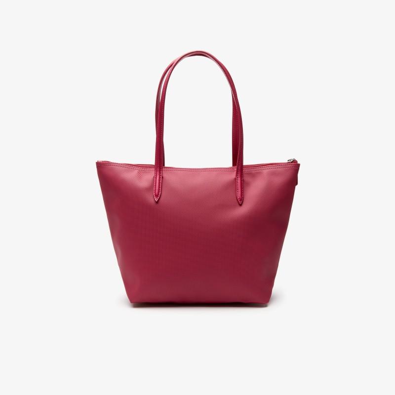 Petit sac cabas Lacoste rouge zippé L.12.12 Concept uni