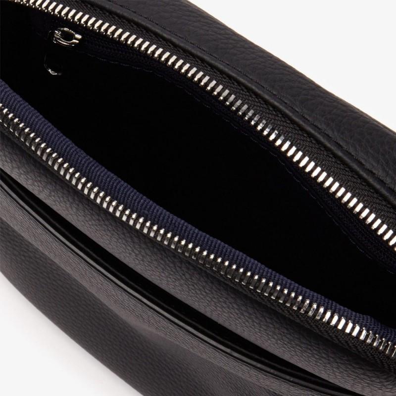 Sacoche Lacoste noir zippé