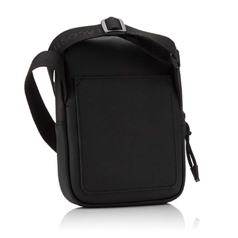 Pochette Lacoste noir zippé bandoulière