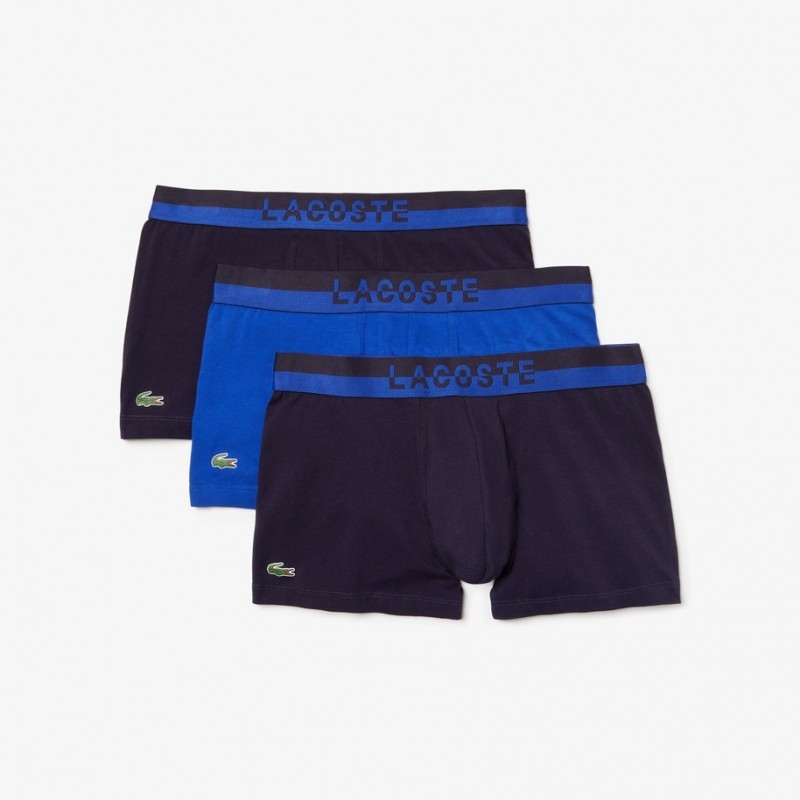 Lot de 3 boxers LAcoste courts Colours avec ceinture contrastée