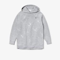Sweatshirt à capuche Tennis Lacoste SPORT en molleton imprimé