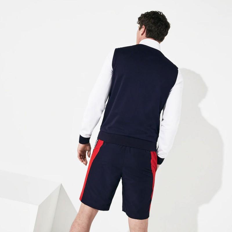 Sweatshirt zippé Lacoste SPORT en piqué avec bande signature